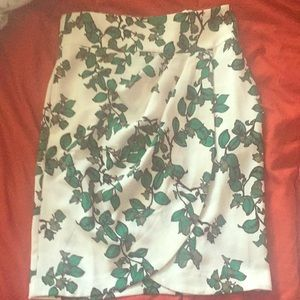 White and green skirt